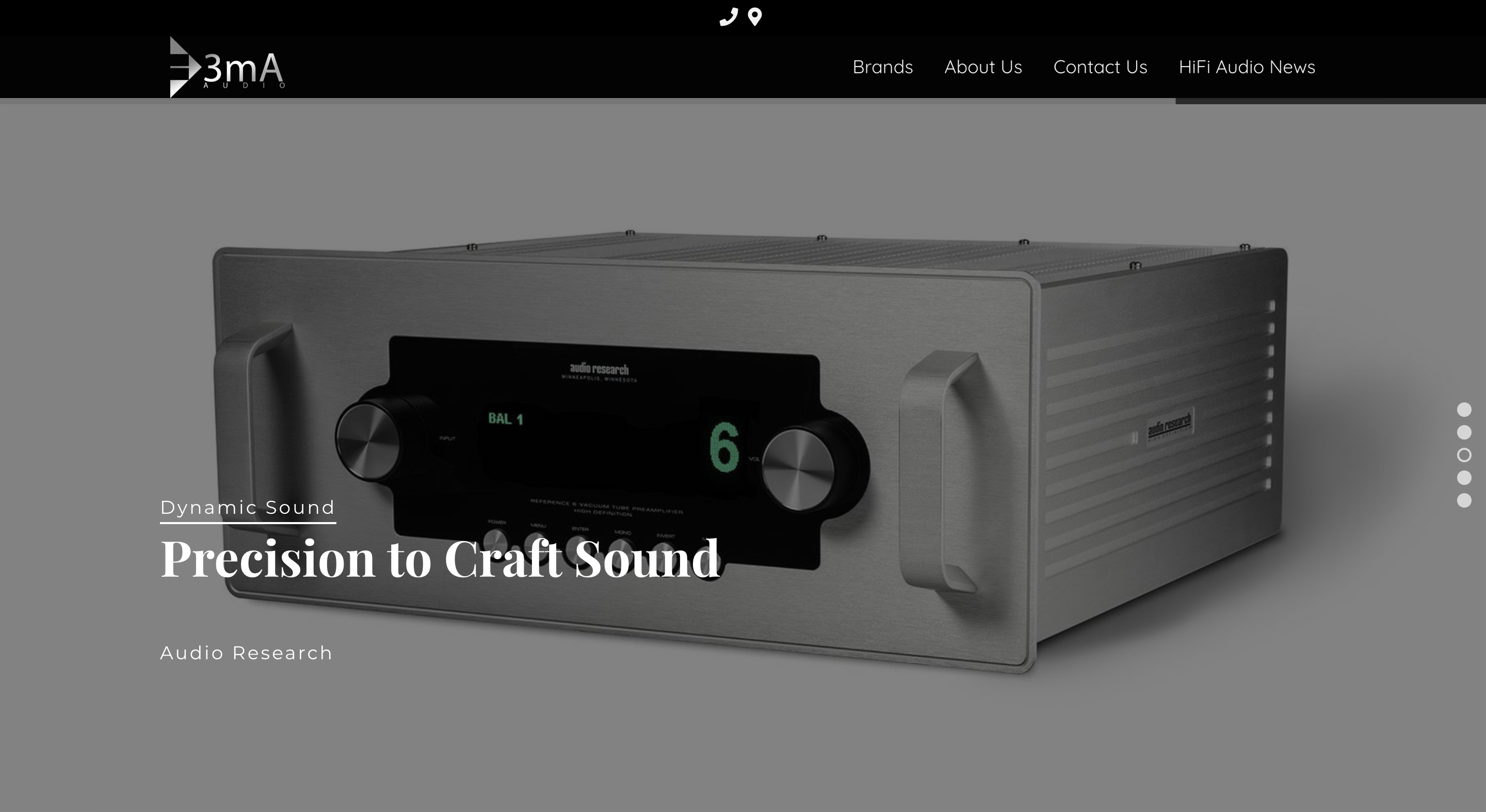 3mA Audio Website Homepage Slide 3