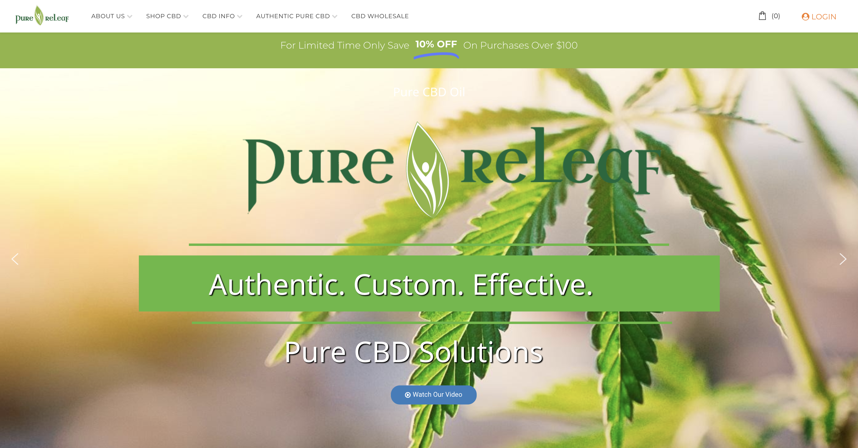 Pure ReLeaf Homepage