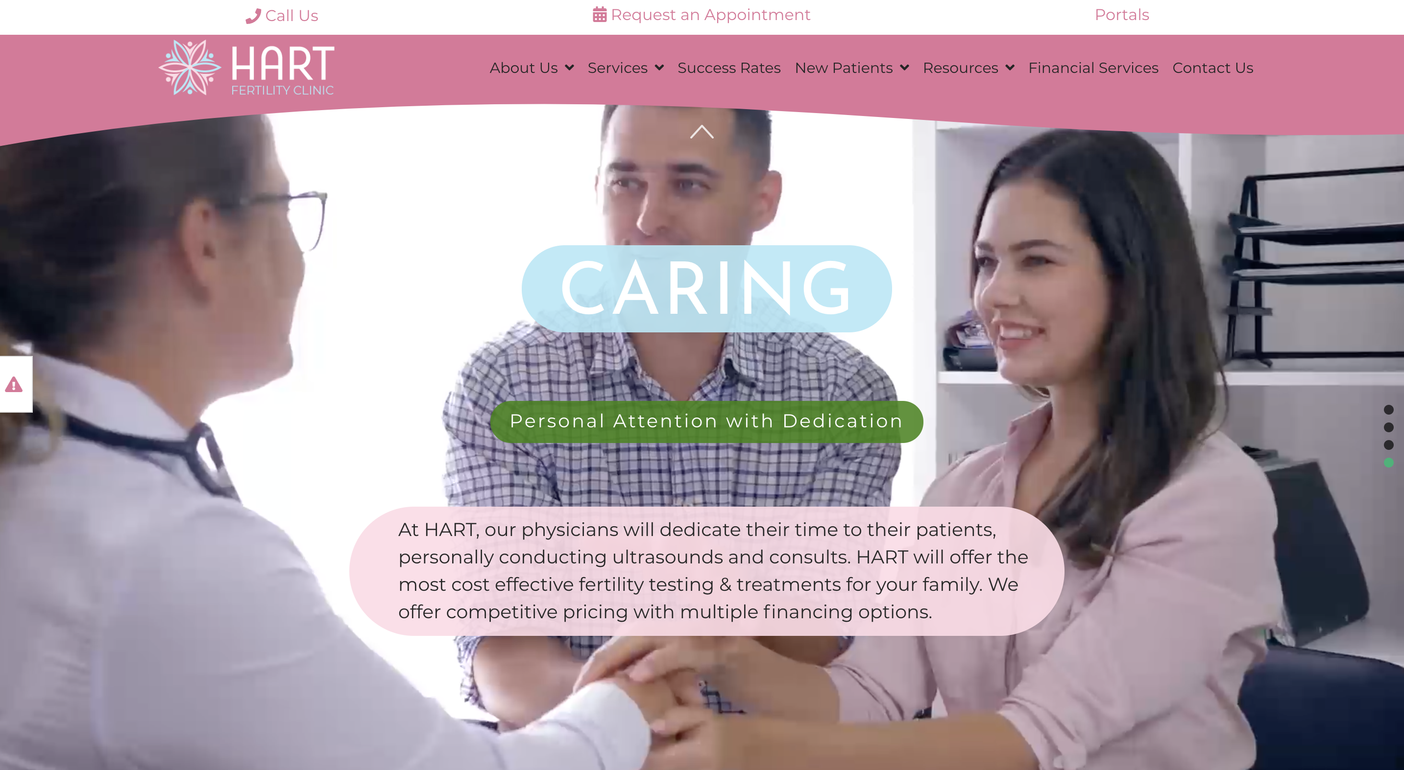 HART North Houston Fertility Clinic homepage slide 4