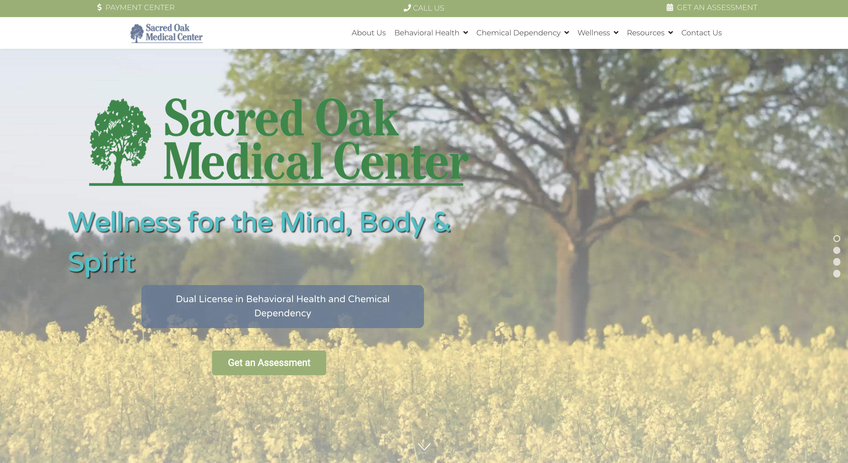 Sacred Oak Medical Center Slide 1
