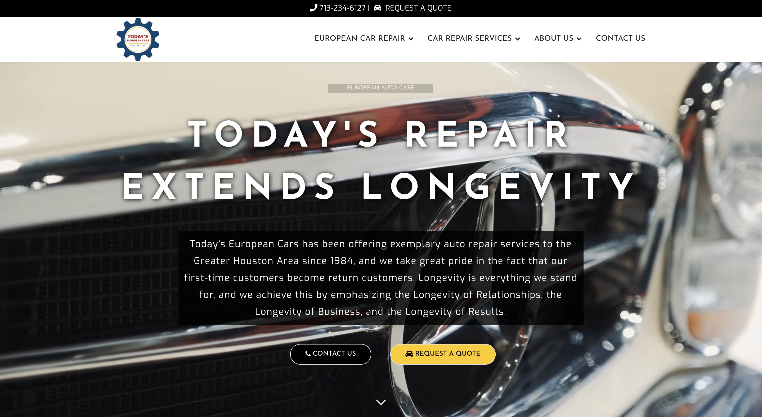 Today's European Car Repair Houston Homepage Slide 1